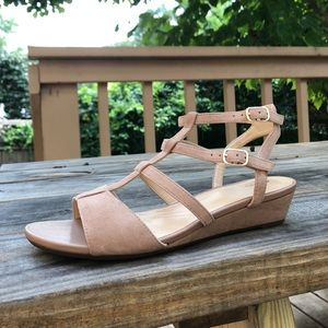 Clarks Strappy Wedge Sandal